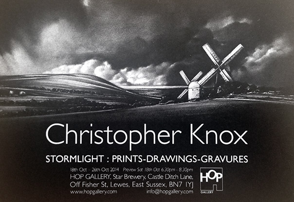 Stormlight: Prints, drawings and gravures exhibition at the Hop Gallery