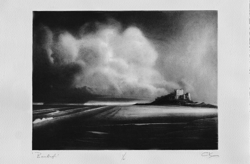 A print of Bamburgh in Northumberland