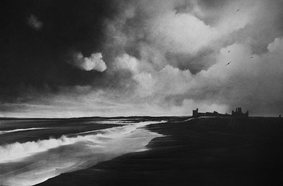 A drawing of Dunstanburgh in Northumberland